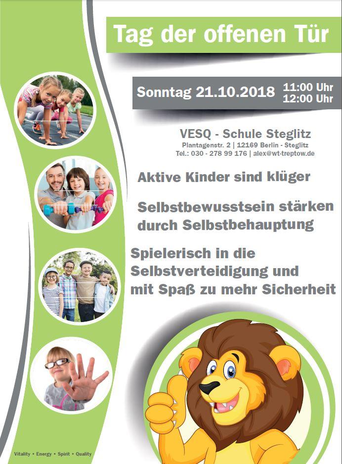 Kinder Selbstverteidigung Berlin - Tag der offenen Tür